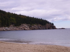 Sand Beach, Acadia National Park, Maine. Click to enlarge.